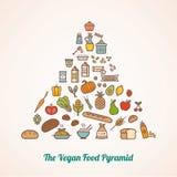 A pirâmide de alimento do vegetariano ilustração royalty free