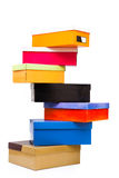 Pirâmide de caixas coloridas Imagem de Stock