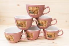 Pirâmide de canecas do chá Imagem de Stock