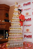 Pirâmide de Champagne Fotos de Stock Royalty Free