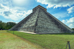 Pirâmide de Chichen Itza, México, Iucatão Imagem de Stock Royalty Free