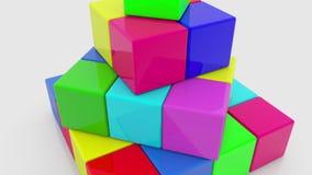 Pirâmide de cubos coloridos ilustração do vetor