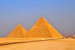 Pirâmide de Egito Edifícios históricos Fotos de Stock Royalty Free