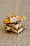 Pirâmide de fatias do waffel Imagem de Stock Royalty Free