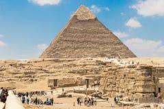 A pirâmide de Khafre o segundo - o maior das pirâmides de Giza, Egito imagens de stock royalty free