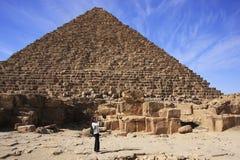 Pirâmide de Menkaure, o Cairo Fotos de Stock Royalty Free