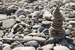 Pirâmide de pedra do zen imagem de stock