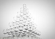 Pirâmide de vidro Fotografia de Stock