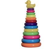Pirâmide do brinquedo dos anéis da cor Fotos de Stock