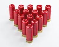 A pirâmide do calibre 12 disparou que é vermelho na cor Imagens de Stock Royalty Free