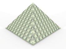 Pirâmide do dinheiro Foto de Stock
