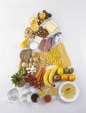 Pirâmide do guia do alimento Foto de Stock
