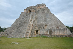 A pirâmide do mágico, Uxmal, península do Iucatão, México Imagem de Stock