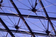 A pirâmide do museu da grelha Imagens de Stock Royalty Free