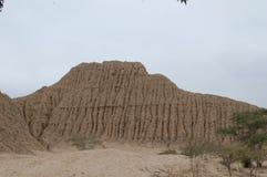 Pirâmide do tijolo de Tucume Fotografia de Stock