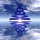 Pirâmide dobro ilustração do vetor
