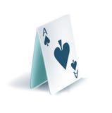 Pirâmide dos cartões de jogo Fotografia de Stock