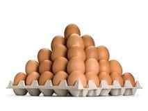 Pirâmide dos ovos marrons Foto de Stock Royalty Free