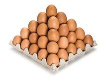 Pirâmide dos ovos marrons Imagem de Stock Royalty Free