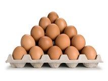 Pirâmide dos ovos marrons Fotos de Stock