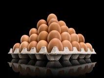 Pirâmide dos ovos marrons Imagem de Stock