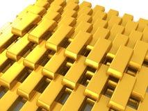 Pirâmide dourada Fotos de Stock Royalty Free