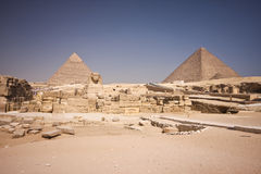 Pirâmide e Sphinx Imagem de Stock