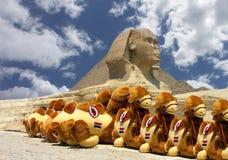Pirâmide e Sphinx Foto de Stock