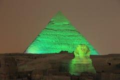 Pirâmide e Sphinx de Giza fotos de stock
