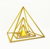 Pirâmide financeira do ouro Fotos de Stock Royalty Free