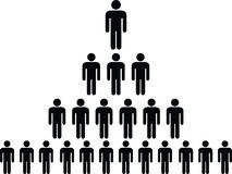 Pirâmide humana do pictograma Imagem de Stock Royalty Free