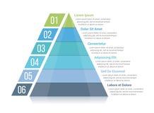 Pirâmide Infographics ilustração stock