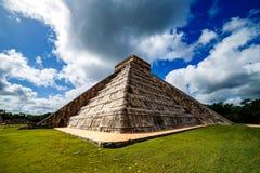Pirâmide maia Chichen Itza Foto de Stock Royalty Free