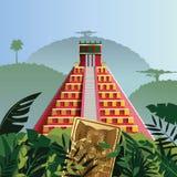 Pirâmide maia de Acient Fotografia de Stock