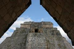 Pirâmide maia em Uxmal, México Imagem de Stock