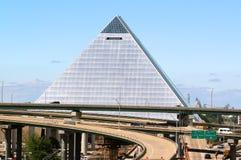 A pirâmide, Memphis Tennessee do centro imagens de stock