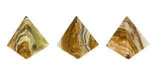 Pirâmide mineral do ônix Fotos de Stock