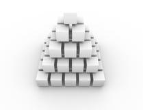Pirâmide simétrica ilustração stock
