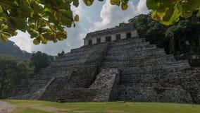Pirâmide velha na selva em Palenque, México Foto de Stock