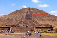 Pirâmide XI de Sun, teotihuacan fotografia de stock