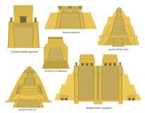 Pirâmides astecas ilustração do vetor