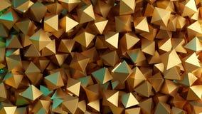 Pirâmides 3D douradas Ilustração abstraia o fundo ilustração royalty free
