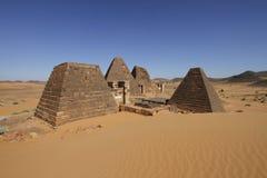"""Pirâmides das réguas de Kushite em Meroà """" Imagem de Stock"""