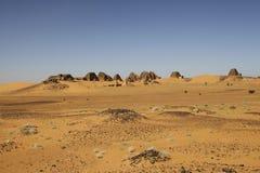 Pirâmides das réguas de Kushite em Meroe Imagem de Stock Royalty Free