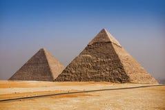 Pirâmides de Giza, o Cairo, Egipto foto de stock royalty free