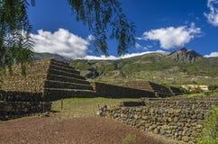 Pirâmides de Guimar em Tenerife, inverno 2018 fotos de stock royalty free