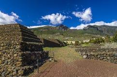 Pirâmides de Guimar em Tenerife, inverno 2018 imagem de stock royalty free