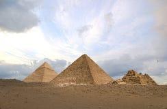 Pirâmides de HDR Fotografia de Stock