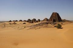 Pirâmides de Kushite de Meroe Fotografia de Stock