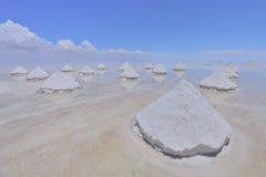Pirâmides de sal Imagem de Stock